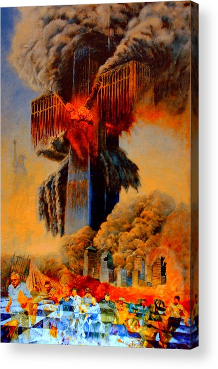 Henryk Acrylic Print featuring the painting Cross Of The Third Millennium by Henryk Gorecki