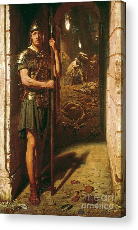 Faithful Unto Death Acrylic Print featuring the painting Faithful Unto Death by Sir Edward John Poynter