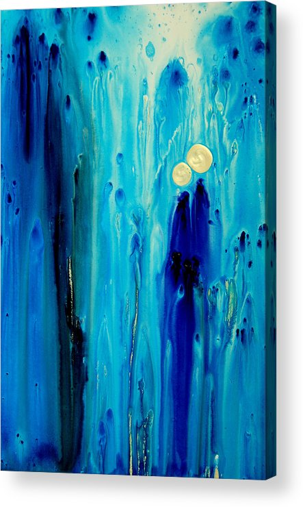 Abstract Art Acrylic Print featuring the painting Never Alone by Sharon Cummings