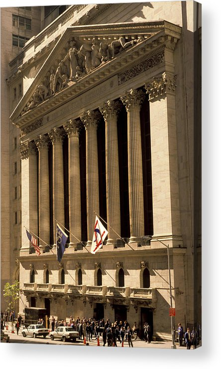 Wall St. Acrylic Print featuring the photograph Ny Stock Exchange by Gerard Fritz