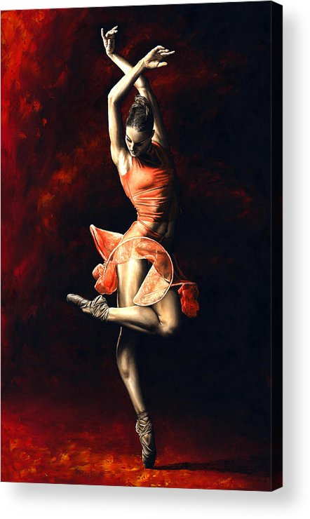 Dancer Acrylic Print featuring the painting The Passion Of Dance by Richard Young