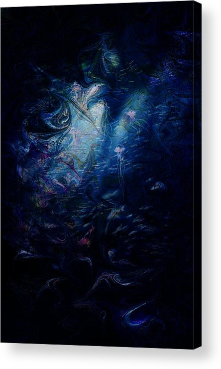 Abstract Acrylic Print featuring the digital art Under The Sea by Rachel Christine Nowicki