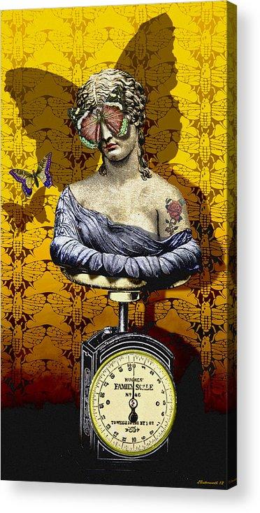 Surrealism Acrylic Print featuring the digital art Metamorphosis by Larry Butterworth