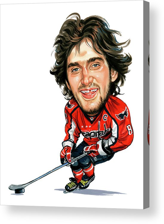 Alexander Ovechkin Acrylic Print featuring the painting Alexander Ovechkin by Art