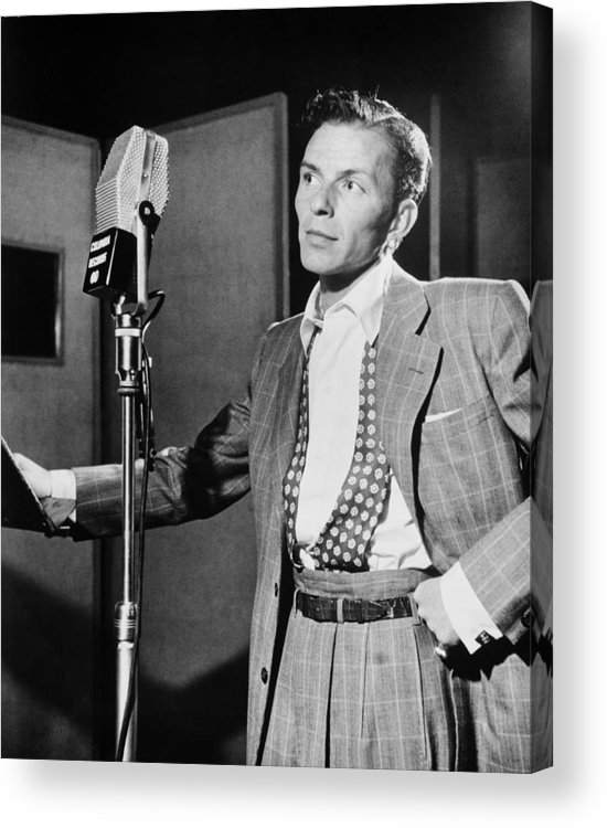 Frank Sinatra Acrylic Print featuring the photograph Frank Sinatra by Mountain Dreams