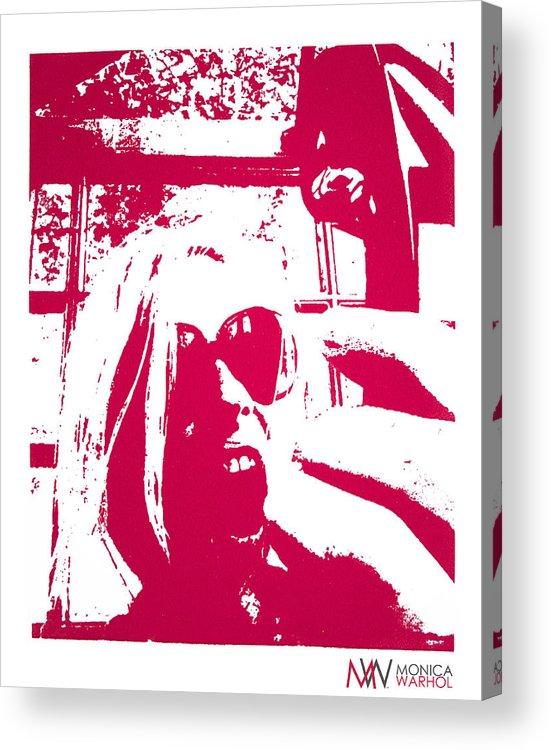 Monica Warhol Acrylic Print featuring the painting Ta Ta Telephone by Monica Warhol