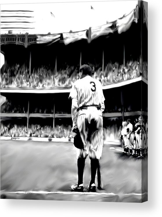 Babe Ruth Acrylic Print featuring the painting The Greatest Of All Babe Ruth by Iconic Images Art Gallery David Pucciarelli