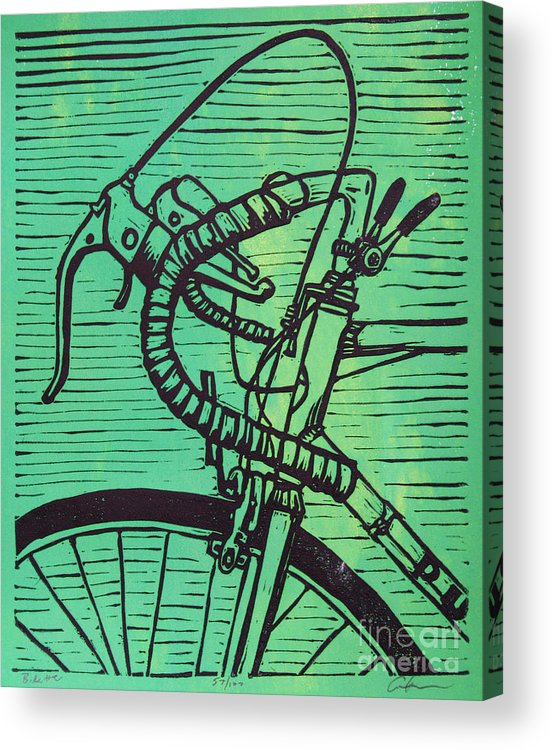 Print Acrylic Print featuring the drawing Bike 2 by William Cauthern