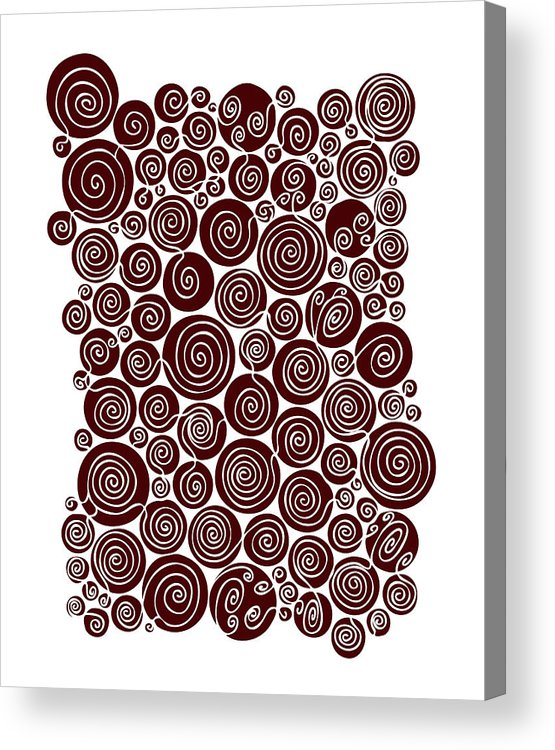 Red Acrylic Print featuring the painting Red Abstract by Frank Tschakert