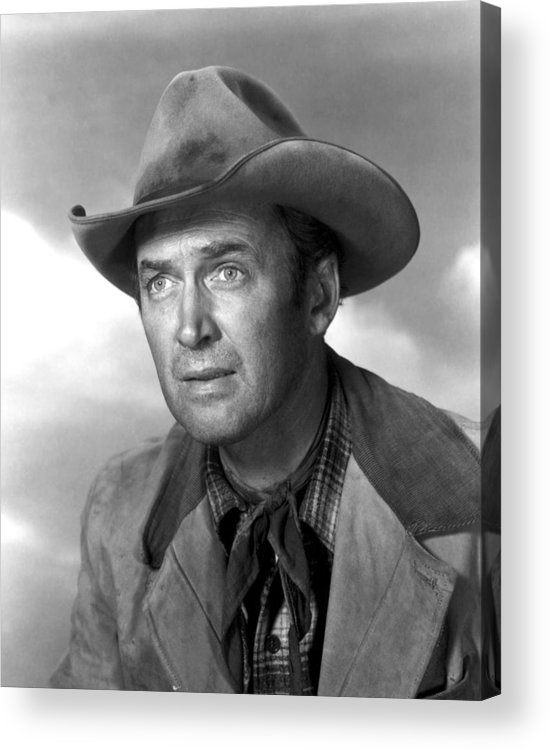 1930s Portraits Acrylic Print featuring the photograph Far Country, The, James Stewart, 1955 by Everett