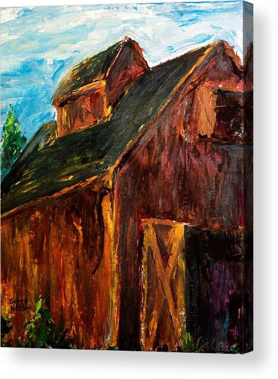 Farm Acrylic Print featuring the painting Farm Barn by Scott Nelson