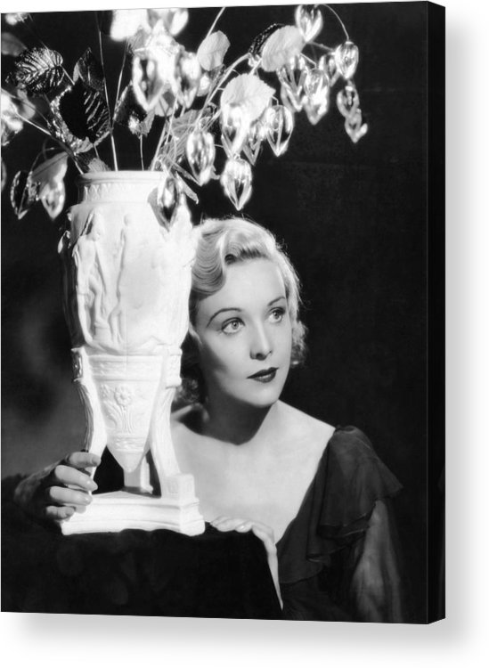 1930s Movies Acrylic Print featuring the photograph Secret Agent, Madeleine Carroll, 1936 by Everett
