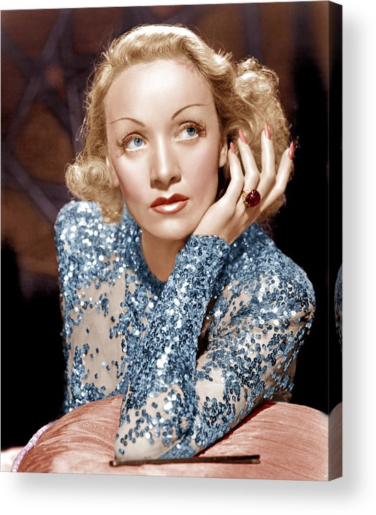 1930s Movies Acrylic Print featuring the photograph Angel, Marlene Dietrich, 1937 by Everett