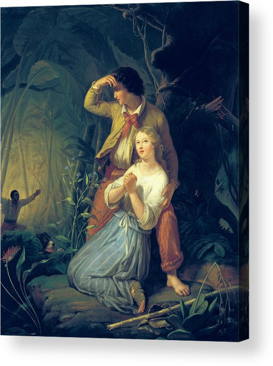 Paul Acrylic Print featuring the painting Paul And Virginie by French School