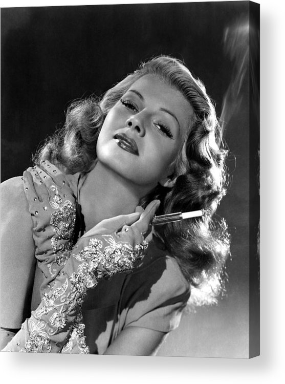 1940s Portraits Acrylic Print featuring the photograph Rita Hayworth, Columbia Pictures, 1940s by Everett