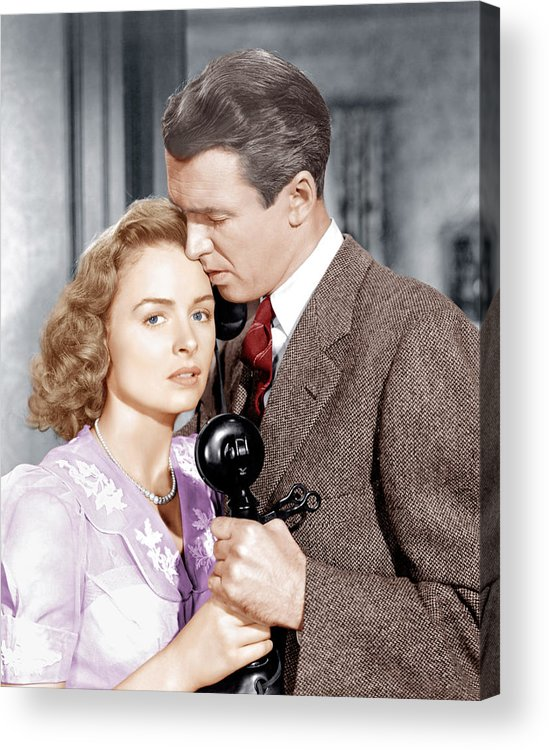 1940s Movies Acrylic Print featuring the photograph Its A Wonderful Life, From Left Donna by Everett
