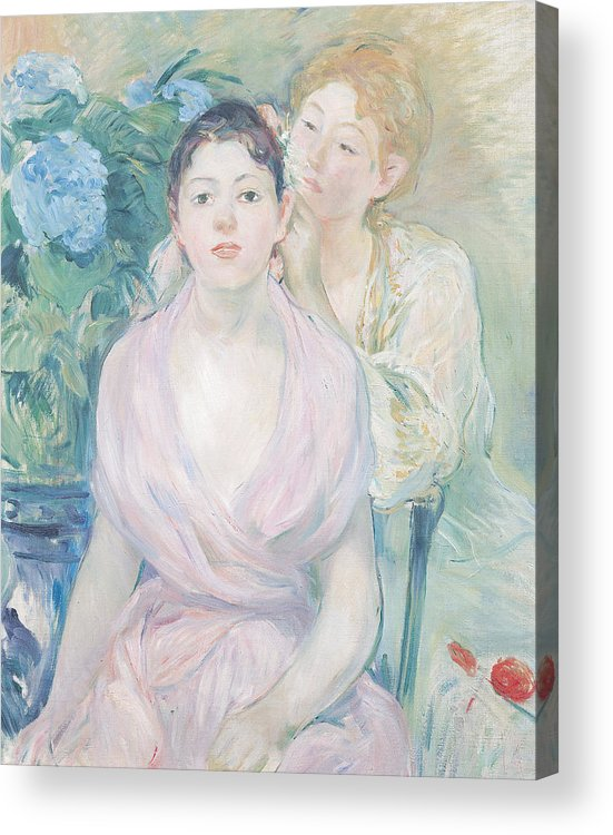 The Acrylic Print featuring the painting The Hortensia by Berthe Morisot