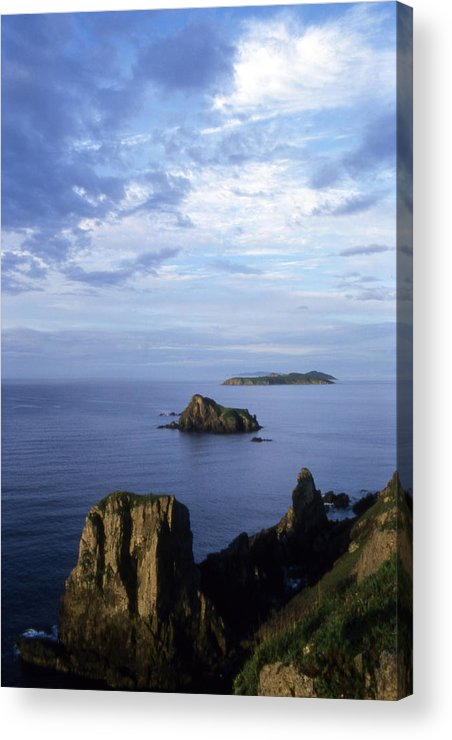Landscape; Nature; Summer; Land; Reef; Rocks; Evening; Overcast; Cloudiness; World Herritage Sites; Reserve; National Park Acrylic Print featuring the photograph Russian Far East by Anonymous