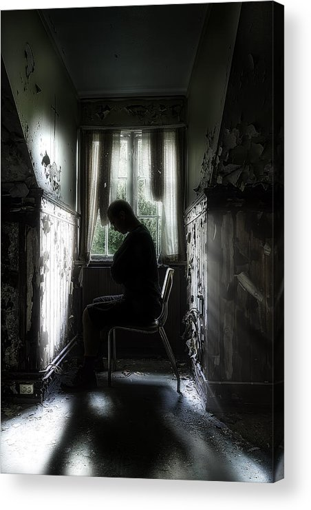 Asylum Acrylic Print featuring the photograph The Asylum Project - Waiting For The Miracle by Erik Brede