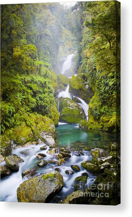Camping Acrylic Print featuring the photograph Amazing Waterfall by Tim Hester