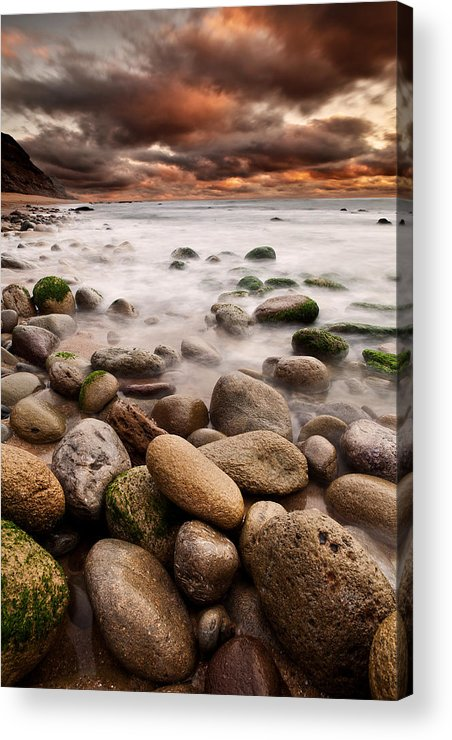 Rocks Acrylic Print featuring the photograph Lost In A Moment by Jorge Maia