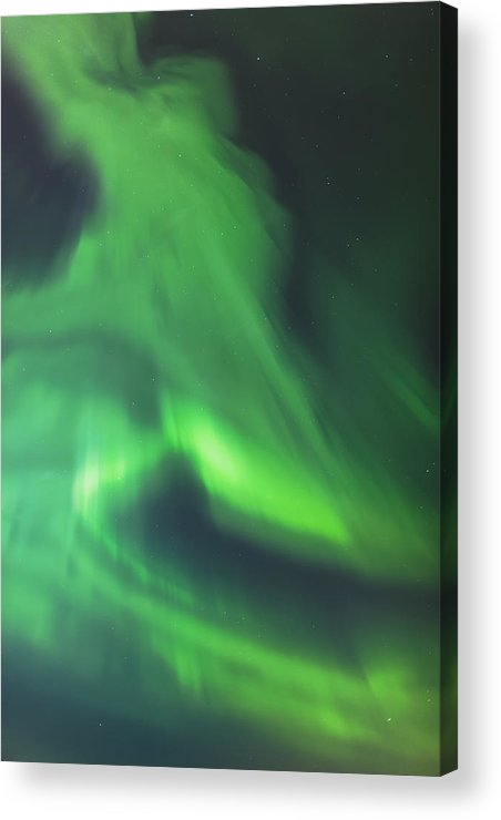 Anchorage Acrylic Print featuring the photograph The Green Northern Lights Corona by Kevin Smith