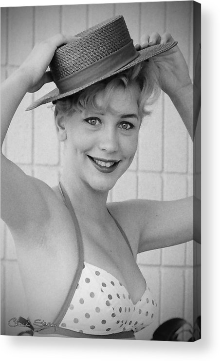 1950s Pinup Acrylic Print featuring the photograph 1950s Pinup by Chuck Staley