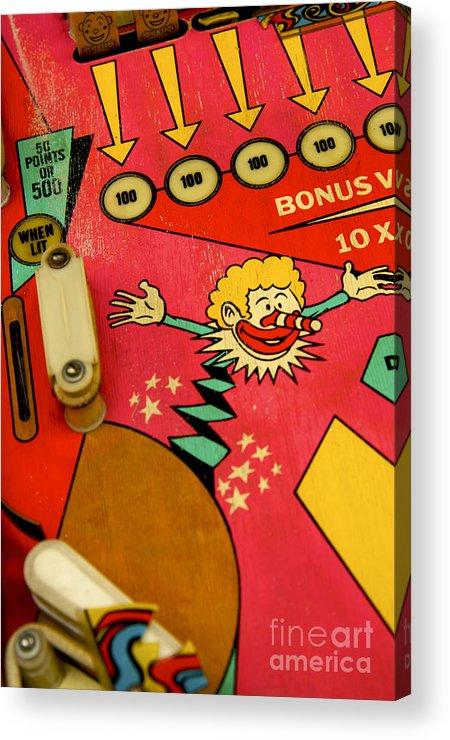 Indoors Acrylic Print featuring the photograph Pinball Machine by Bernard Jaubert