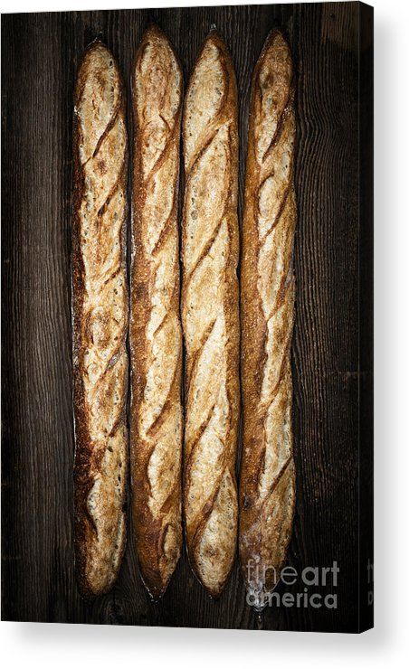 Bread Acrylic Print featuring the photograph Baguettes by Elena Elisseeva