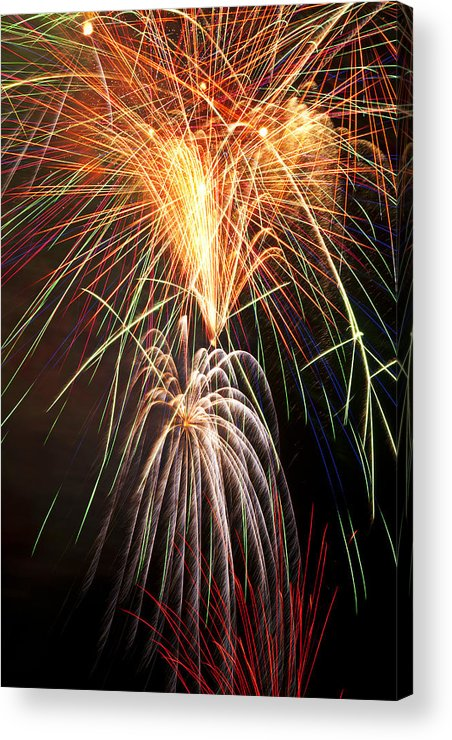 4th Acrylic Print featuring the photograph Amazing Fireworks by Garry Gay