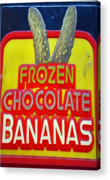 Fair Acrylic Print featuring the photograph Bananas by Skip Willits