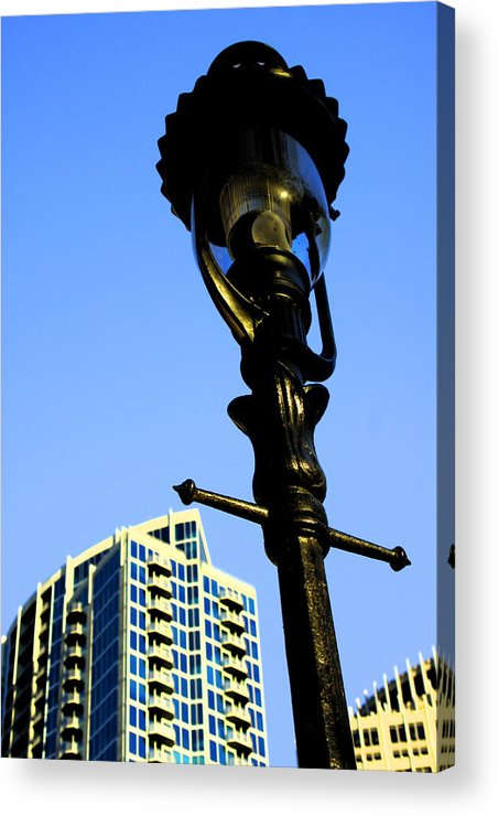 Lamp Post Acrylic Print featuring the photograph City Lamp Post by Karol Livote