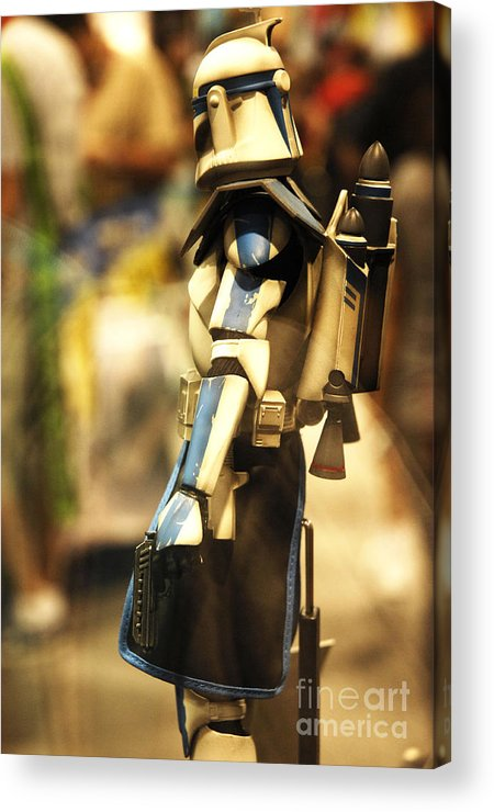 Star Wars Acrylic Print featuring the photograph Clone Trooper by Micah May