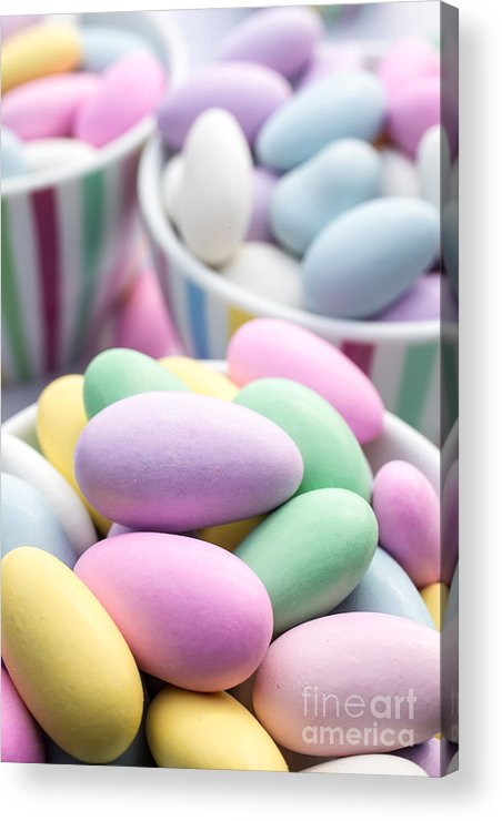 Food Acrylic Print featuring the photograph Colorful Pastel Jordan Almond Candy by Edward Fielding
