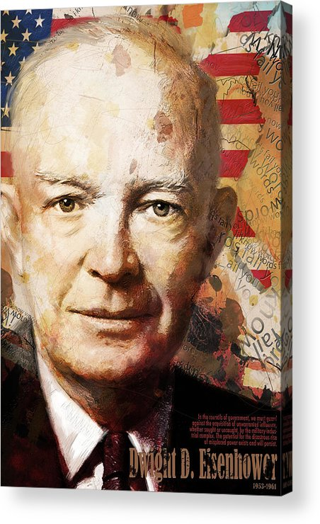 Ike Acrylic Print featuring the painting Dwight D. Eisenhower by Corporate Art Task Force