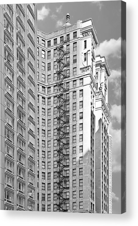 Chicago Acrylic Print featuring the photograph Emergency Exit Chicago Il by Christine Till