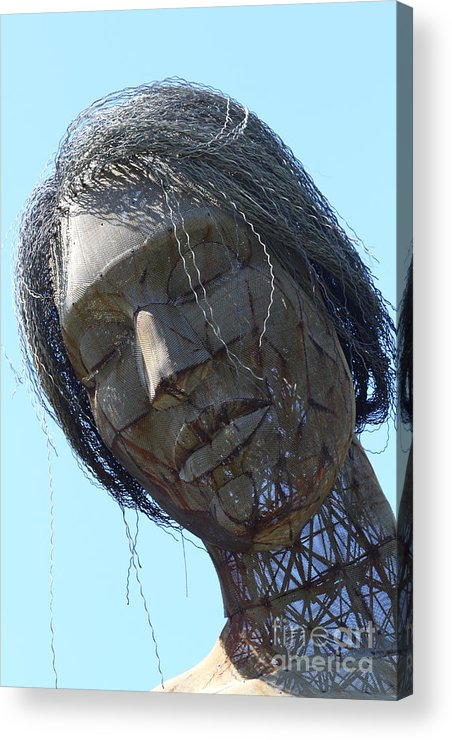 San Francisco Acrylic Print featuring the photograph Female Sculpture On San Francisco Treasure Island 7d25445 by Wingsdomain Art and Photography