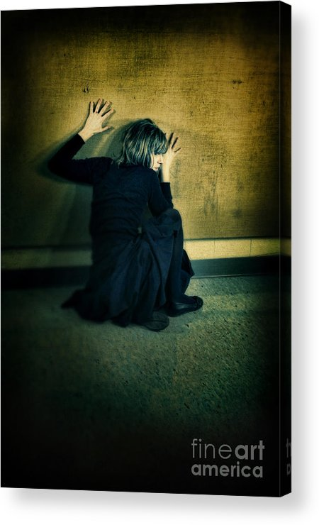 Woman Acrylic Print featuring the photograph Frightened Woman by Jill Battaglia
