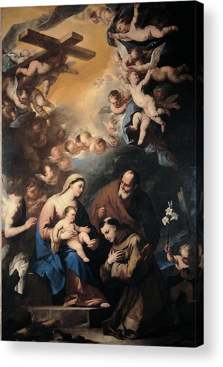 Holy Acrylic Print featuring the photograph Giordano Luca, Holy Family Venerated by Everett