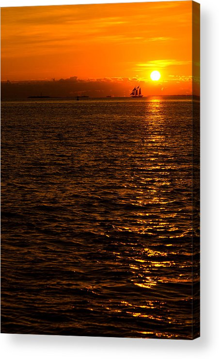 Sunset Acrylic Print featuring the photograph Glimmer by Chad Dutson