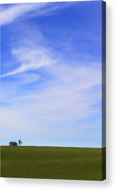 Interesting Clouds Acrylic Print featuring the photograph House On The Hill by Mike McGlothlen