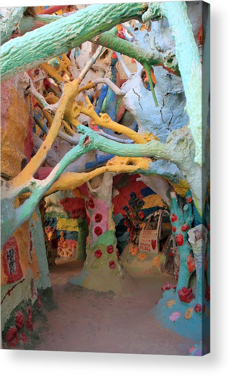 Salvation Mountain Acrylic Print featuring the photograph It's A Magical World by Laurie Search