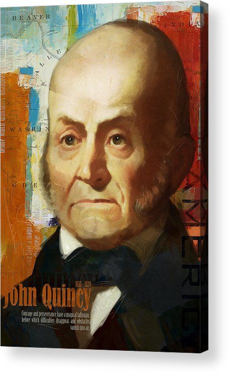 John Quincy Acrylic Print featuring the painting John Quincy Adams by Corporate Art Task Force