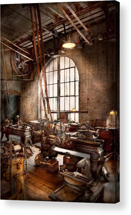Machinists Acrylic Print featuring the photograph Machinist - I Like Big Tools by Mike Savad