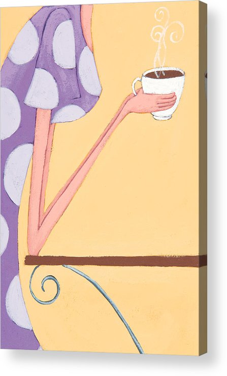 Coffee Acrylic Print featuring the painting Morning Coffee by Christy Beckwith