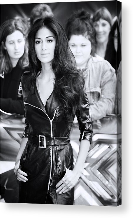 Jezcself Acrylic Print featuring the photograph Nicole Scherzinger 22 by Jez C Self