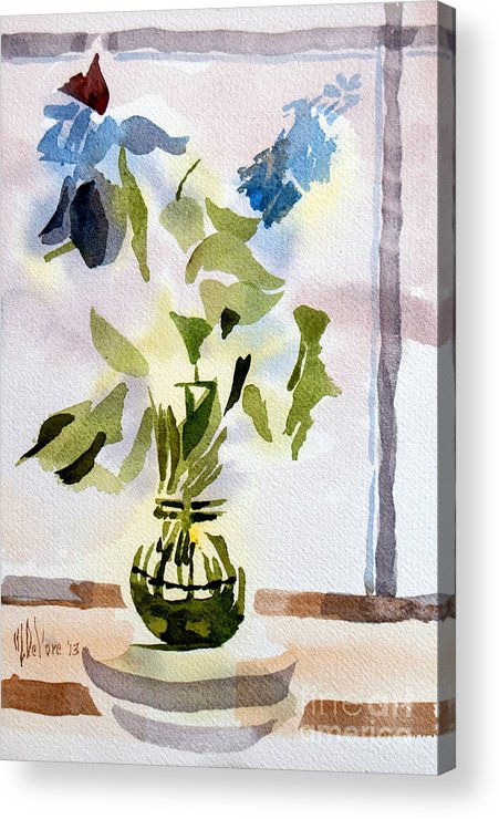 Poetry In The Window Acrylic Print featuring the painting Poetry In The Window by Kip DeVore