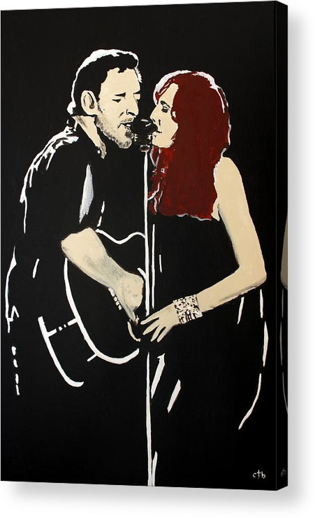 Bruce Springsteen Acrylic Print featuring the painting Red Headed Woman by Carmencita Balagtas