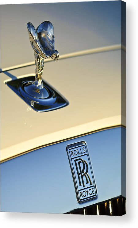 Rolls-royce Acrylic Print featuring the photograph Rolls-royce Hood Ornament 3 by Jill Reger