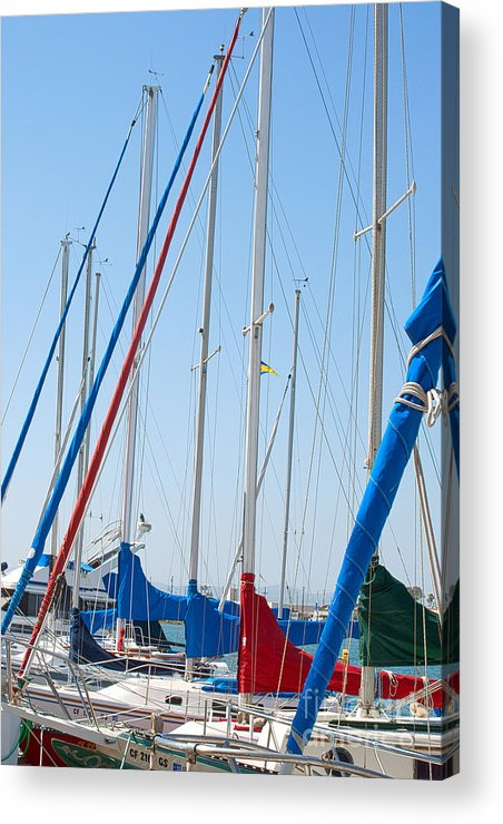 Sailing Acrylic Print featuring the photograph Sailboat Masts by Artist and Photographer Laura Wrede